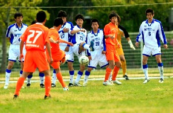 14 May 06 - Fuyo Club whack in a free kick against Mind House TC