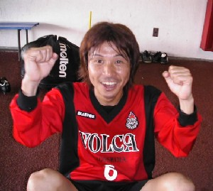 15 Apr 06 - Yuma Shiramoto, distinctly perky after Volca Kagoshima's win