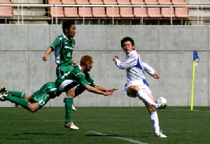 16 Apr 06 - Action from Matsumoto Yamaga (green) against Fervorosa
