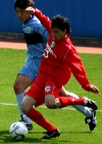 16 Apr 06 - Shinya Kobayashi, scorer of two goals for Luminozo Sayama