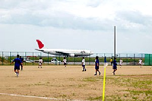 16 Jul 06 - Sanyo Tokushima's beautifully-located ground stages the Tokushima Vortis Amateur - Kamatamare Sanuki match
