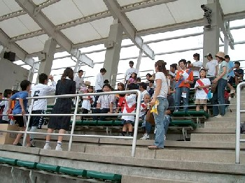 18 Jun 06 - FC Kariya fans feast their eyes on the match with Sagawa Kyubin Osaka
