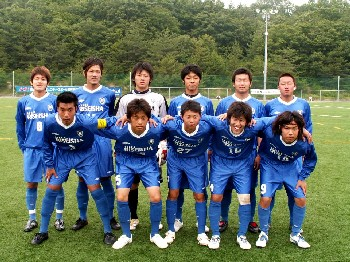 18 Jun 06 - Yes! Another pre-match photo of Riseisha FC, before the game with Kobe FC Senior C