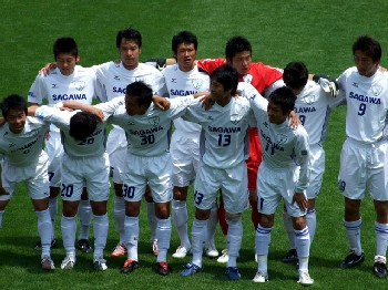 19 May 07 - League leaders Sagawa Kyubin SC before the match at Tochigi