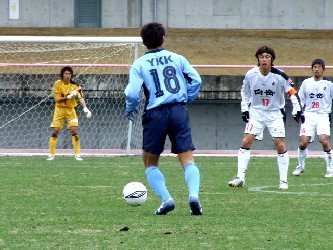 20 Mar 06 - Hak Sun Fang sets the ball rolling for YKK AP against Rosso Kumamoto