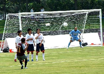 21 May 06 - A distinctly wonky view of FC Ryukyu's win over Sagawa Printing