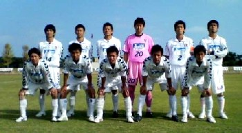 21 Oct 06 - SC Tottori before their game at RKU