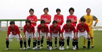 22 Apr 06 - Mitsubishi Heavy Industries Kobe before their game with FC Kyoto BAMB