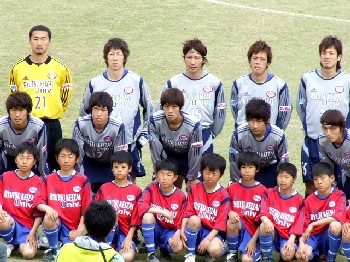 22 Apr 06 - Ryutsu Keizai University prior to their game with Alo's Hokuriku