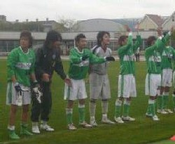22 Apr 07 - FC Mi-o, fresh from hitting the top of the table