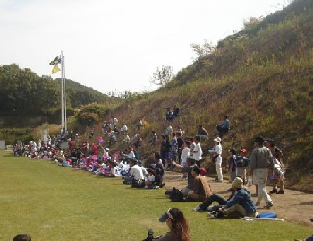 22 Oct 06 - Fagiano fans at their team's 10-1 thrashing of Hitachi