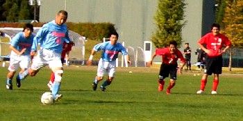 22 Oct 06 - A Furukawa Battery spot kick against Marysol Matsushima