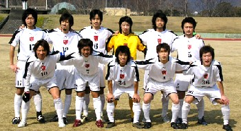23 Feb 07 - FC Central Chugoku line up before their loss to Banditonce Kobe