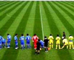 23 Jul 06 - TDK and Sendai Nakata line up before kick-off