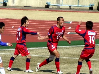 27 Mar 06 - RKU celebrate giving Sony Sendai a right good duffing up