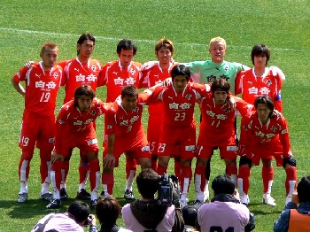 26 Mar 07 - Early pace-setters Rosso Kumamoto prepare to give Ryukyu a spanking