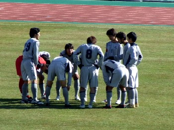 25 Nov 06 - Preparing for their match with YSCC, it's mighty Nippon Steel Oita
