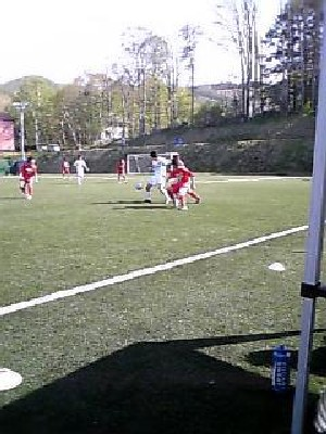 27 May 07 - Another awful Granscena photo, this time against Ohara School