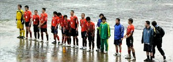 28 May 06 - FC Ganju Iwate at the end of their first competitive match - against Morioka Central High School in the qualifying stages of the Emperor's Cup