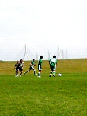 29 Jul 06 - Tokachi Fairsky take on Sapporo Football Group on a remote hillside