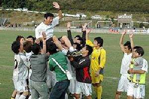 29 Oct 06 - Celebration time for Kamatamare Sanuki