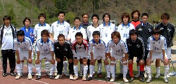 30 Apr 06 - JFE Steel line up before their match with Hiroshima Fujita SC