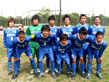 30 Apr 06 - Riseisha FC before their win at Kobe FC Senior C