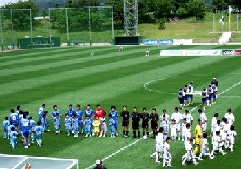 30 Jun 07 - Pre-match ceremonies for TDK and Sagawa Kyubin