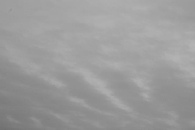 20110306 夕方の空(モノクロ)