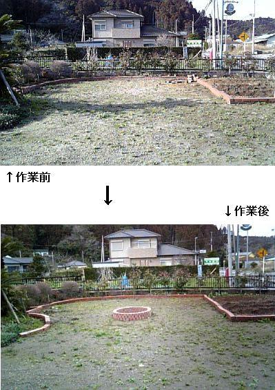 3-14今日の庭仕事