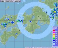 8月4日 気象レーダー