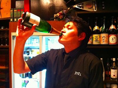 祝いのシャンパン