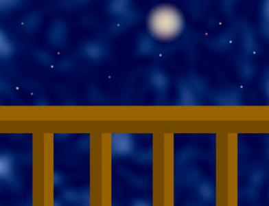 ベランダから見上げる夜空 完成版