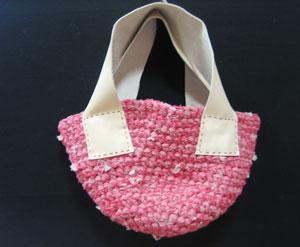 裂き布バッグ赤1