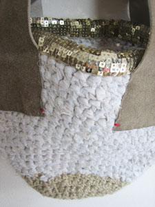 裂き布バッグ白1