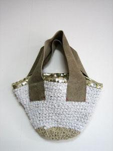 裂き布バッグ白2