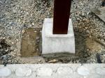 ウッドデッキの柱(足元)