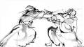 剣道の水墨画?
