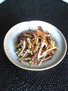 干根菜のきんぴら