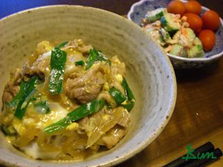 Jly22_ニラ玉のせ豚丼