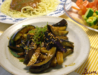 Aug08_茄子と大葉の味噌炒め