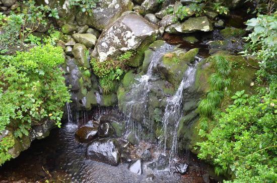 川田の湧水→飲料用貯水→大島分川→川田の滝となって海へ落下