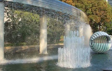 カーテンの噴水