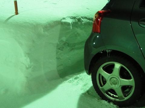 職場地方の積雪量(2011.01.21)