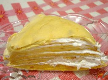 かぼちゃクリームのミルクレープ