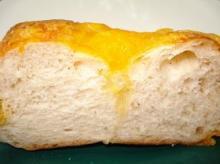 チーズベーグル断面