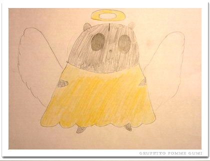 天使になったグミ君