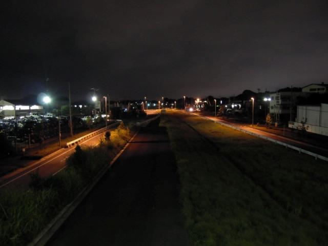 上尾道路「夢の橋」から桶川方面を望む
