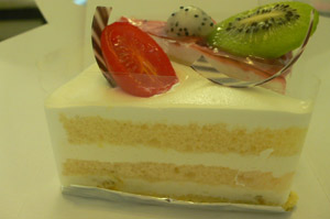 パン屋のケーキ