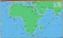 カリカ~リス航路図